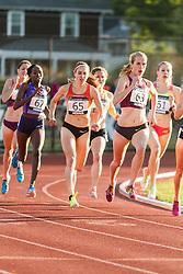 Adrian Martinez Classic track meet, Women's High Performance 800m, McKayla Fricker leads