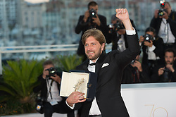 Director Ruben Ostlund winner of the Palme d'Or for the movie 'The Square' attend the Palme D'Or winner photocall during the 70th annual Cannes Film Festival held at the Palais Des Festivals in Cannes, France on May 28, 2017 as part of the 70th Cannes Film Festival. Photo by Nicolas Genin/ABACAPRESS.COM