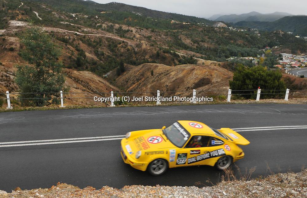 Rex Broadbent & Michael Goedheer .1974 Porsche 911 Carrera RS.Day 5.Targa Tasmania 2009.3rd of May 2009.(C) Joel Strickland Photographics.