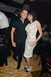 JULIEN MACDONALD and FRANCES RUFFELLE at a private performance by Frances Ruffelle entitled 'Paris Original' at The Crazy Coqs, Brasserie Zedel, 20 Sherwood Street, London on 8th October 2013.