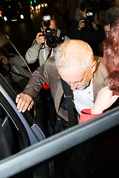 Westminster, September 20th 2016. Labour Leader Jeremy Corbyn leaves the Party Headquarters following a meeting of the NEC.