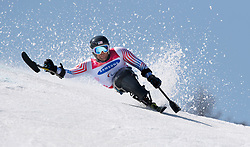 March 14, 2018 - Pyeongchang, South Korea - TYLER WALKER of the US during Giant Slalom competition at the Jeongseon Alpine Center at the Pyeongchang Winter Paralympic Games. Walker won the silver medal.  (Credit Image: © Mark Reis via ZUMA Wire)
