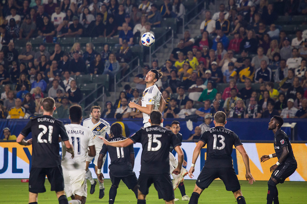 Photos taken in the summer of 2018 for the LA Galaxy home games against D.C. United, Minnesote United, Colorado Rapids and LAFC. Working with head photographer Rob Mora. Major League Soccer. ©justinalexanderbartels.com