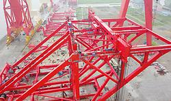 July 6, 2018 - Nantong, Nantong, China - Nantong, CHINA-The world's first 1,800-ton beam crane can be seen in Nantong, east China's Jiangsu Province. (Credit Image: © SIPA Asia via ZUMA Wire)