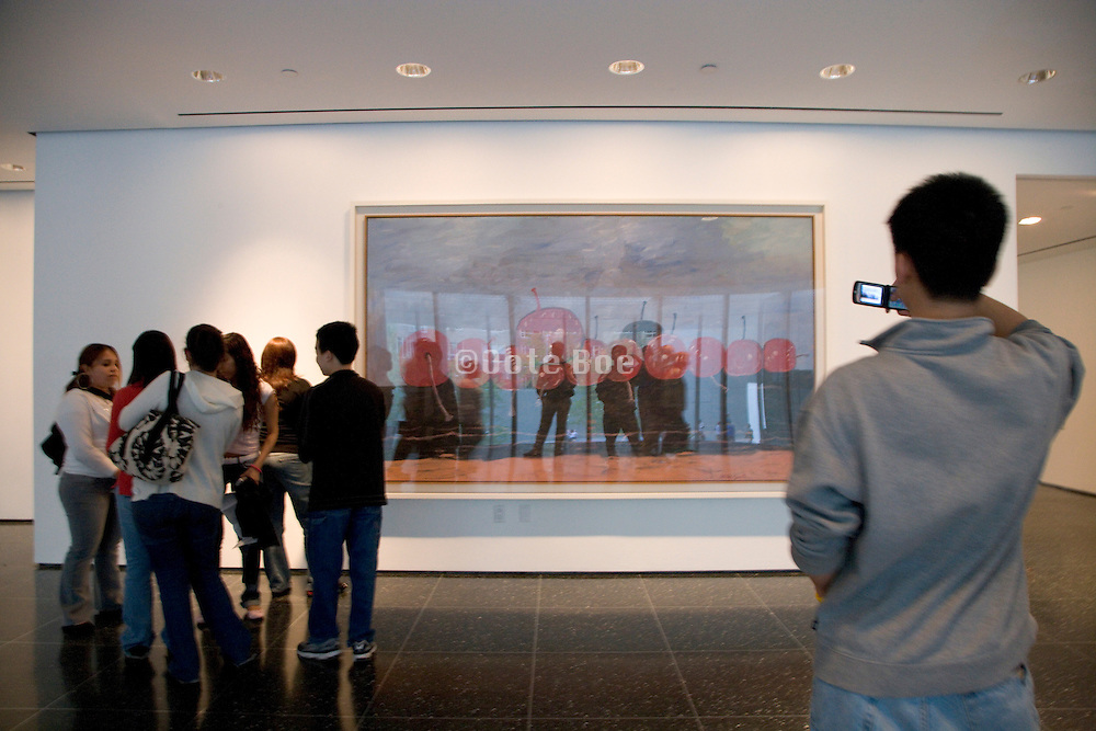 students on a school outing visiting the Museum of Modern Art New York