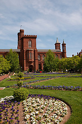 Washington DC: Smithsonian headquarters The Castle on the Mall. Photo copyright Lee Foster.  Photo # washdc102696