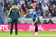 Luke Wood of Worcestershire bowling during the final of the Vitality T20 Finals Day 2018 match between Worcestershire Rapids and Sussex Sharks at Edgbaston, Birmingham, United Kingdom on 15 September 2018.