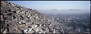 Kabul's countless hillside houses built by refugees coming from Pakistan.