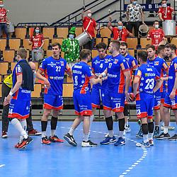 Enttaeuscht die die Gaeste beim Spiel in der Handball Bundesliga, Die Eulen Ludwigshafen - HBW Balingen-Weilstetten.<br /> <br /> Foto © PIX-Sportfotos *** Foto ist honorarpflichtig! *** Auf Anfrage in hoeherer Qualitaet/Aufloesung. Belegexemplar erbeten. Veroeffentlichung ausschliesslich fuer journalistisch-publizistische Zwecke. For editorial use only.
