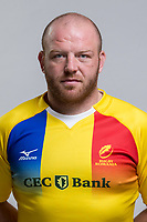 CLUJ-NAPOCA, ROMANIA, FEBRUARY 27: Romania's national rugby player Mihaita Lazar pose for a headshot, on February 27, 2018 in Cluj-Napoca, Romania. (Photo by Mircea Rosca/Getty Images)