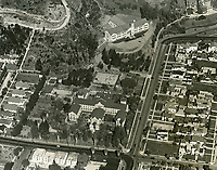1930 Aerial photo of Immaculate Heart High School