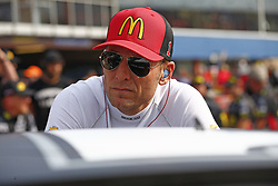 August 10, 2018 - Brooklyn, Michigan, United States of America - Jamie McMurray (1) hangs out on pit road prior to qualifying for the Consumers Energy 400 at Michigan International Speedway in Brooklyn, Michigan. (Credit Image: © Justin R. Noe Asp Inc/ASP via ZUMA Wire)