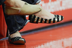08 December 2012: Fancy Slipper shoes  during an NCAA mens basketball game between the Western Michigan Broncos and the Illinois State Redbirds (Missouri Valley Conference) in Redbird Arena, Normal IL This image available for EDITORIAL USE ONLY. A release may be required. Additional information by contacting alook at alanlook.com