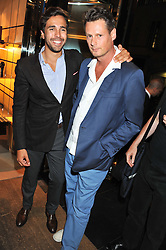 Left to right, DIEGO BIVERO-VOLPE and PERCY PARKER at a party as part of the Vogue Fashion's Night Out held at Tod's, 2-5 Bond Street, London on 6th September 2012.