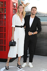 Hannah Cooper and Joel Dommett attend the European premiere of Christopher Robin at the BFI Southbank in London.