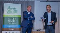 ZEIST -  Gerard Louter met Prof. Dr. Ir. Jan Rotmans. Nationaal Golf & Groen Symposium.  Copyright Koen Suyk