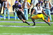 FORT WORTH, TX - SEPTEMBER 13:  Deante' Gray #20 of the TCU Horned Frogs breaks free against the Minnesota Golden Gophers on September 13, 2014 at Amon G. Carter Stadium in Fort Worth, Texas.  (Photo by Cooper Neill/Getty Images) *** Local Caption *** Deante' Gray