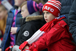 A young Sunderland fan in the stands