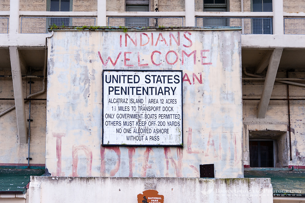 United States, California, San Francisco. Alcatraz. From November 1969 the island was occupied for more than 19 months by a group of American Indians.