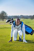 ARNHEM - Atleet Churandy Martina , sprinter, is een enthousiast golfer.  COPYRIGHT KOEN SUYK