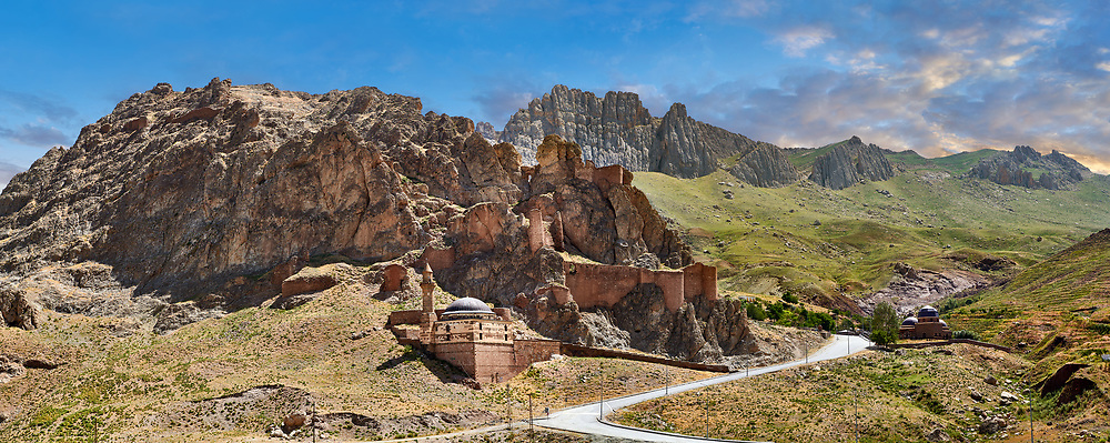 Old mosque near Ishak Pasha Palace,  Agrı province of eastern Turkey. .<br /> <br /> If you prefer to buy from our ALAMY PHOTO LIBRARY  Collection visit : https://www.alamy.com/portfolio/paul-williams-funkystock/ishak-pasha-palace-turkey.html<br /> <br /> Visit our TURKEY PHOTO COLLECTIONS for more photos to download or buy as wall art prints https://funkystock.photoshelter.com/gallery-collection/3f-Pictures-of-Turkey-Turkey-Photos-Images-Fotos/C0000U.hJWkZxAbg