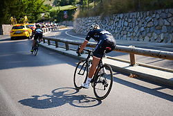 Macey Stewart (AUS) chases back after the climb at La Course by Le Tour de France 2018, a 112.5 km road race from Annecy to Le Grand Bornand, France on July 17, 2018. Photo by Sean Robinson/velofocus.com