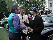 Orlando Bloom and Stuart Zender. The Louis Vuitton Clasic. Hurlingham Club, London. 2 June 2001. © Copyright Photograph by Dafydd Jones 66 Stockwell Park Rd. London SW9 0DA Tel 020 7733 0108 www.dafjones.com