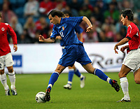 Fotball , 6. september 2006 , EM-kvalifisering , Norge - Moldova 02,<br /> Euro - q.<br /> Norway - Moldova<br /> Ghenadie Olexici , Moldova