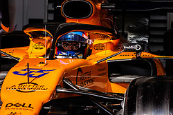 February 18, 2019 - Montmelo, BARCELONA, Spain - Carlos Sainz Jr from Spain with 55 Mclaren F1 Team - Renault MCL34 in action at the pitlane during the Formula 1 2019 Pre-Season Tests at Circuit de Barcelona - Catalunya in Montmelo, Spain on February 18. (Credit Image: © AFP7 via ZUMA Wire)