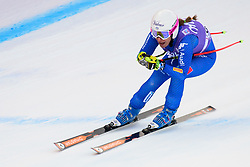 January 19, 2018 - Cortina D'Ampezzo, Dolimites, Italy - Nadia Fanchini of Italy competes  during the Downhill race at the Cortina d'Ampezzo FIS World Cup in Cortina d'Ampezzo, Italy on January 19, 2018. (Credit Image: © Rok Rakun/Pacific Press via ZUMA Wire)
