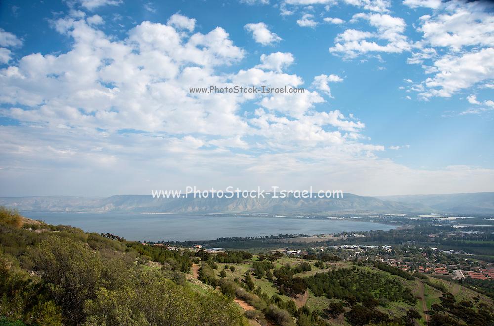 Israel, Sea of Galilee landscape