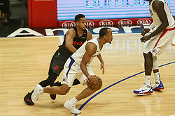 December 17, 2018 - Los Angeles, CA, U.S. - LOS ANGELES, CA - DECEMBER 17: Los Angeles Clippers Guard Avery Bradley (11) setting up a pick during the Portland Trail Blazers at Los Angeles Clippers NBA game on December 17, 2018 at Staples Center in Los Angeles, CA.. (Photo by Jevone Moore/Icon Sportswire) (Credit Image: © Jevone Moore/Icon SMI via ZUMA Press)