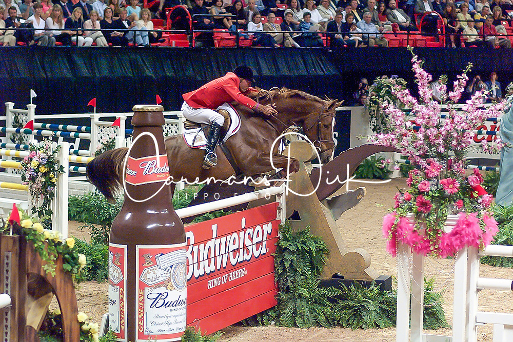 Hansen Hap, USA, Maloubet<br /> World Cup Final Jumping - Las Vegas 2000<br /> © Hippo Foto - Dirk Caremans