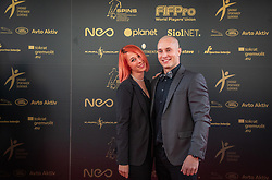 Blaz Slanic during SPINS XI Nogometna Gala 2019 event when presented best football players of Prva liga Telekom Slovenije in season 2018/19, on May 19, 2019 in Slovene National Theatre Opera and Ballet Ljubljana, Slovenia. ,Photo by Urban Meglic / Sportida