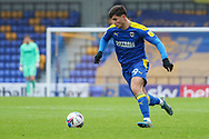 AFC Wimbledon attacker Ryan Longman (29) dribbling and on his own during the EFL Sky Bet League 1 match between AFC Wimbledon and Sunderland at Plough Lane, London, United Kingdom on 16 January 2021.