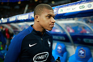France's forward Kylian Mbappe reacts during the FIFA World Cup Russia 2018, Qualifying Group A football match between France and Netherlands on August 31, 2017 at the Stade de France in Saint-Denis, north of Paris, France - Photo Benjamin Cremel / ProSportsImages / DPPI