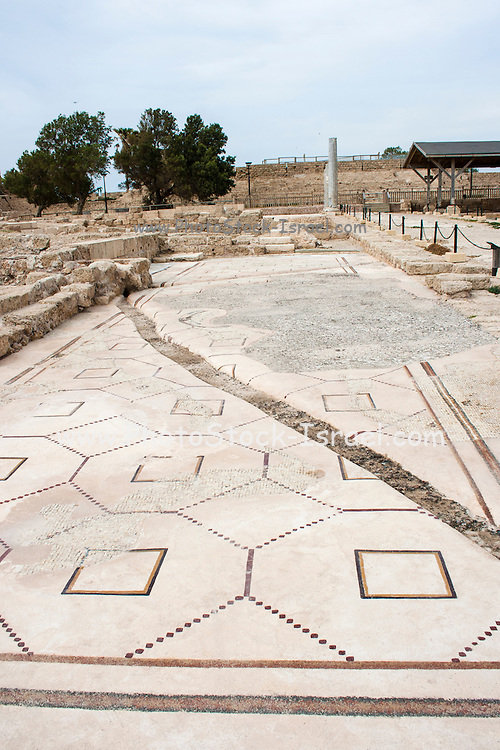 Israel, Caesarea Mosaic floor