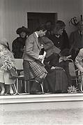 Prince Charles and the Princess of Wales, Braemar Gathering, Scotland, 1987,