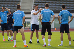 Slovenian players and coach Srecko Katanec during practice session of Slovenian National Football Team before Euro 2016 Qualifications match against England, on June 11, 2015 in Kranj, Slovenia. Photo by Ziga Zupan / Sportida