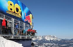 24.01.2020, Streif, Kitzbühel, AUT, FIS Weltcup Ski Alpin, SuperG, Herren, im Bild Starthaus Streif // Start Red Bull Lounge before the men's SuperG of FIS Ski Alpine World Cup at the Streif in Kitzbühel, Austria on 2020/01/24. EXPA Pictures © 2020, PhotoCredit: EXPA/ Johann Groder