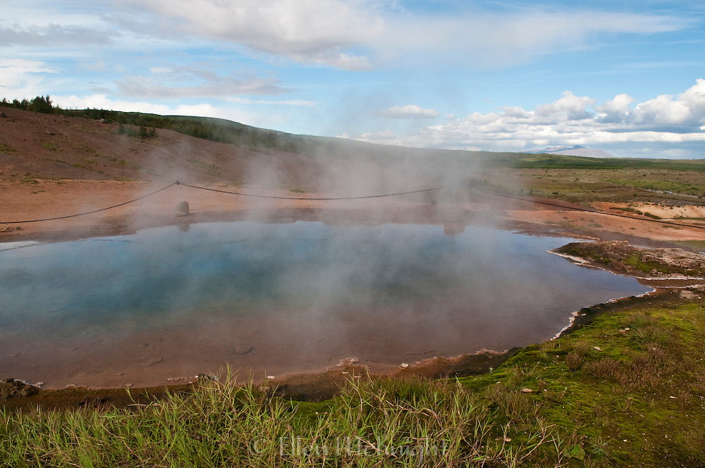 Konungshver (the king's hot spring) at Haukadalur geothermal area in Iceland