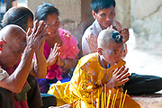 Young monk initiation ceremony, Angkor Wat, Siem Reap, Cambodia