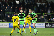Forest Green Rovers Paul Digby(20) heads the ball during the The FA Cup 1st round replay match between Forest Green Rovers and Oxford United at the New Lawn, Forest Green, United Kingdom on 20 November 2018.