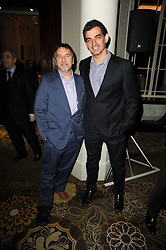 Left to right, chefs RAYMOND BLANC and BRUNO LOUBET at the Tatler Restaurant Awards, at the Langham Hotel, Portland Place, London n 10th May 2010.