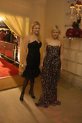 FIONA AND OLYMPIA SCARRY. The London party on the Eve of the Baftas hosted by United Pictures and Variety to benefit Lepra. Sponsored by Steinmetz, Chatila jewellers, and E Entertainment. Spencer House. St. james's Place. London. 18 February 2006. ONE TIME USE ONLY - DO NOT ARCHIVE  © Copyright Photograph by Dafydd Jones 66 Stockwell Park Rd. London SW9 0DA Tel 020 7733 0108 www.dafjones.com