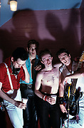 The Clash backstage at London's Rainbow Theatre 1977