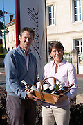 Martin Fueyo and Estelle Roumage owner chateau lestrille bordeaux france