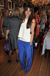 JORDANA REUBEN at a lunch hosted by Roger Viver in honour of Bruno Frisoni their creative director, held at Harry's Bar, 26 South Audley Street, London on 31st March 2011.