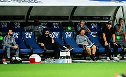 Milivoje Novakovic, Igor Benedejcic and Matjaz Kek, head coach of Slovenia during the UEFA Nations League C Group 3 match between Slovenia and Moldova at Stadion Stozice, on September 6th, 2020. Photo by Vid Ponikvar / Sportida