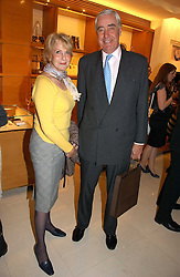 RUPERT & ROBYN HAMBRO at a party to celebrate the publication of 'Made for Maharajas' by Dr Amin Jaffer hosted by Louis Vuitton at their store on Sloane Street, London on 10th October 2006.<br /><br />NON EXCLUSIVE - WORLD RIGHTS